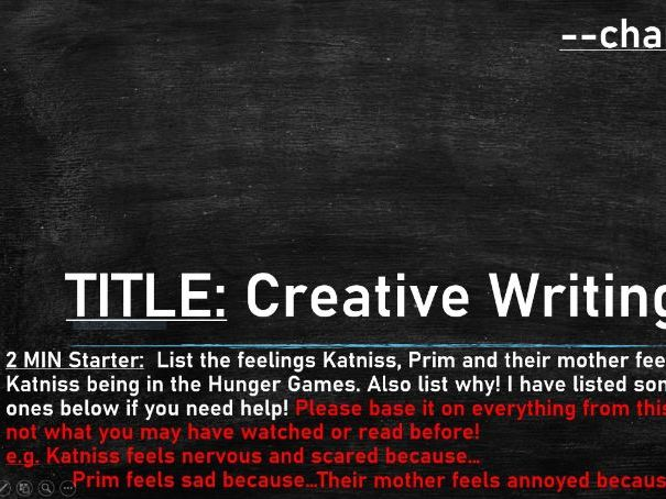 Hunger Games Creative Writing