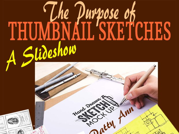 Graphic Arts THUMBNAIL SKETCHES: Purpose & Use + Activities in Creating!  *A Slideshow