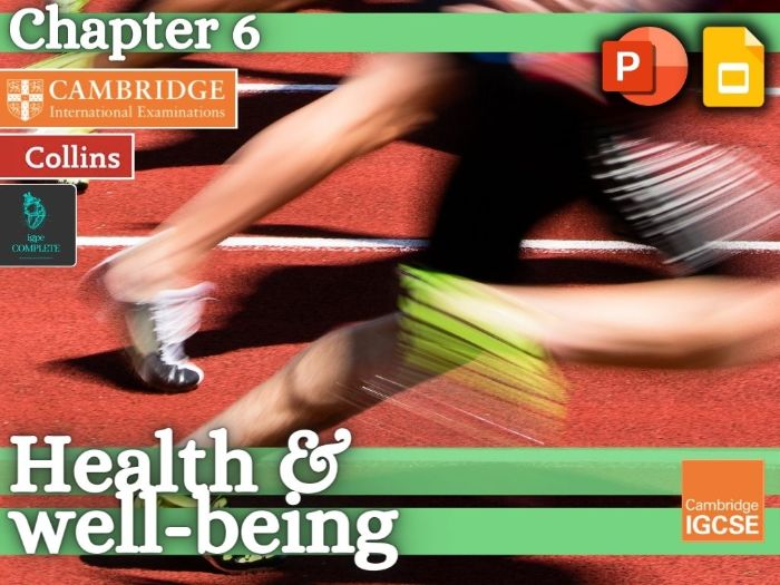 IGCSE / GCSE  PE - HEALTH AND WELL-BEING - Health, Fitness and Training - full teaching resource