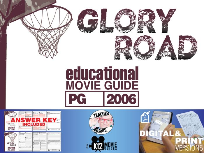 Glory Road Movie Guide | Questions | Worksheet (PG - 2006)