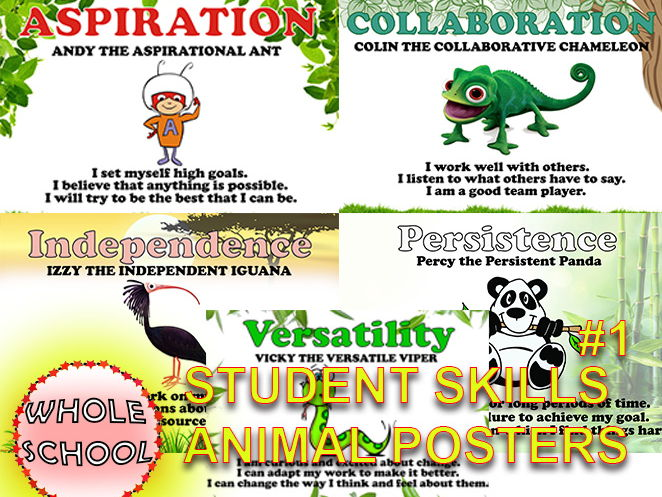 Primary Posters Visual displays Student SKILLS Animals #1