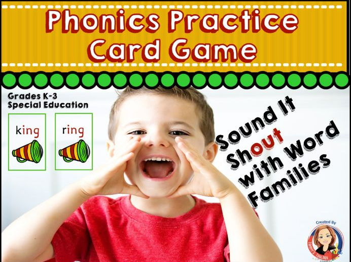 Phonics Game for Practice Reading Word Families