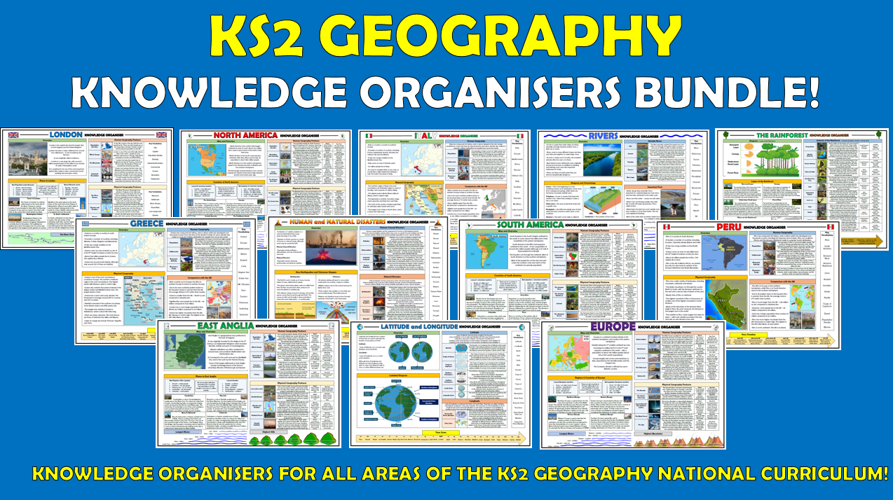 KS2 Geography Knowledge Organisers Bundle!