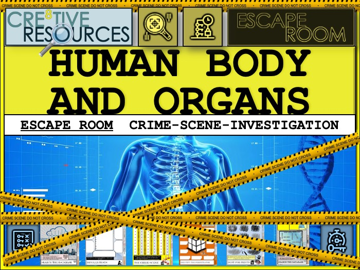 Human Body and Organs Escape Room