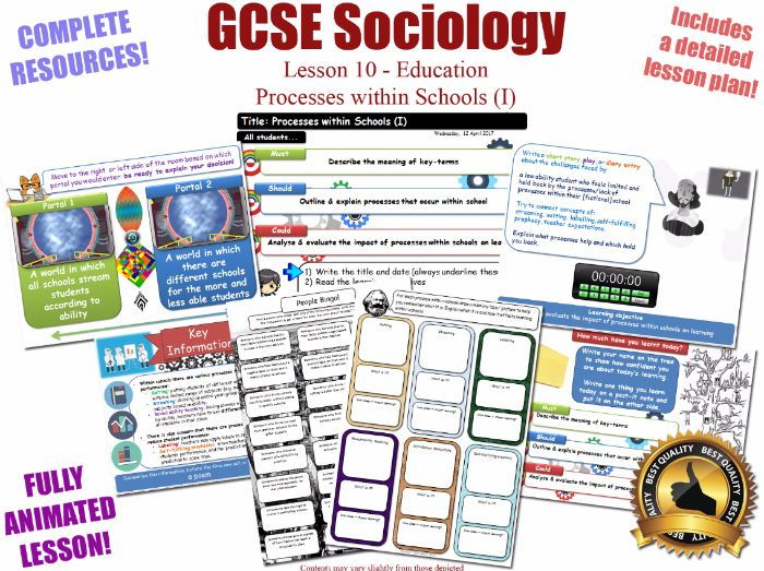 Processes Within Schools (I) - Sociology of Education L10/20 [ AQA GCSE Sociology - 8192] Streaming