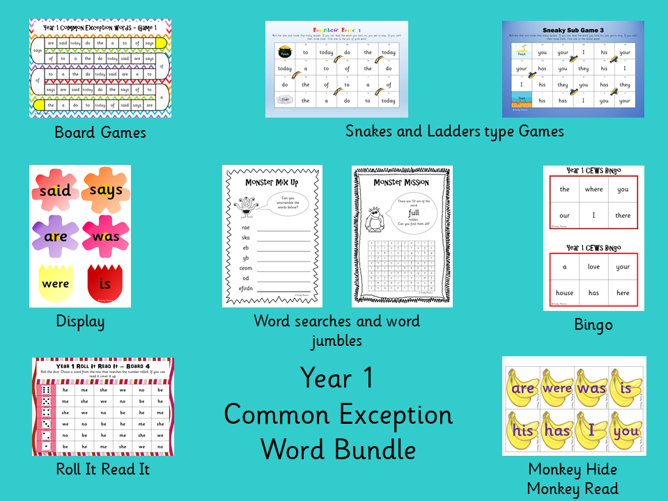 Year 1 Common Exception Word Bundle
