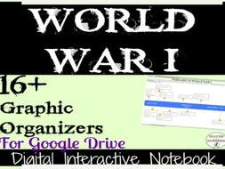 World War I Digital Interactive Notebook Pages for Google Drive