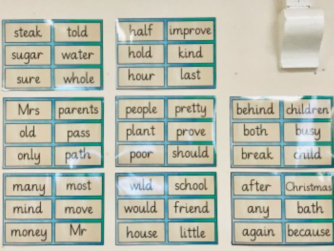 Year 2 Common Exception Words Classroom Display