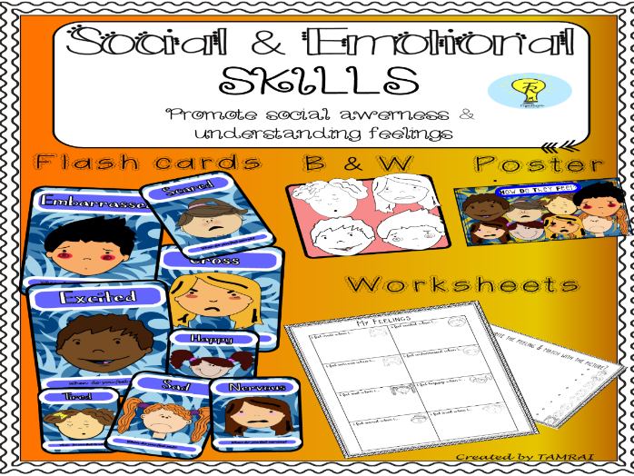 SEN Developing social skills- Flashcards worksheets-