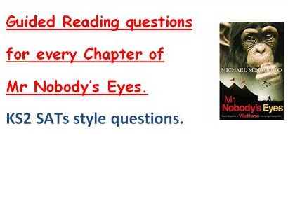 Mr Nobody's Eyes. Guided reading Questions SATs style KS2.
