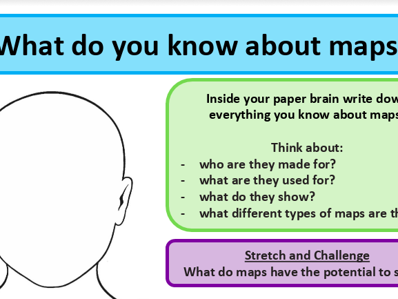 What is a map? Introduction to map lesson - map skills KS3