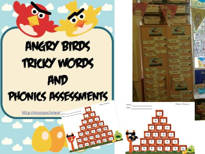 Angry Birds High Frequency Words & Phonics Assessment