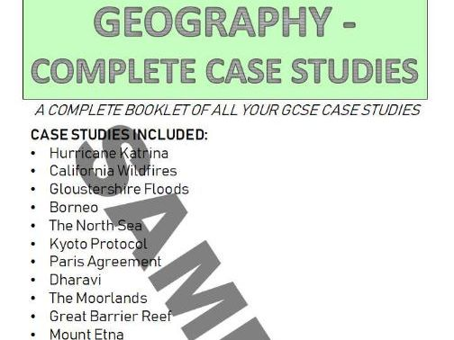 Geography A (9-1) Complete Case Study Booklet