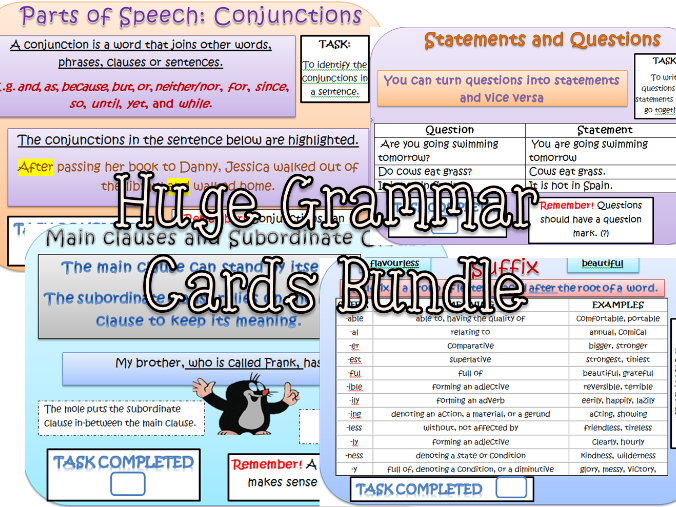 HUGE BUNDLE GRAMMAR CARDS