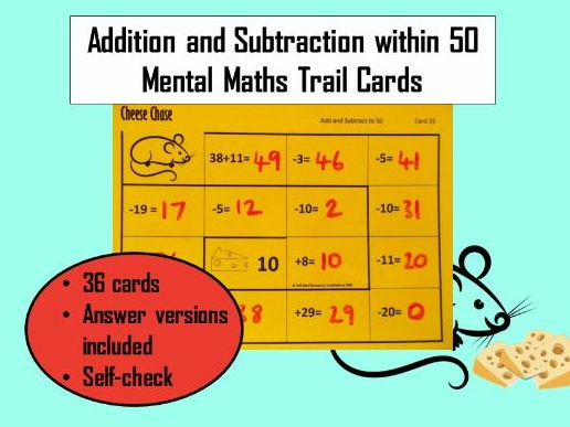 KS1 Addition / Subtraction to 50