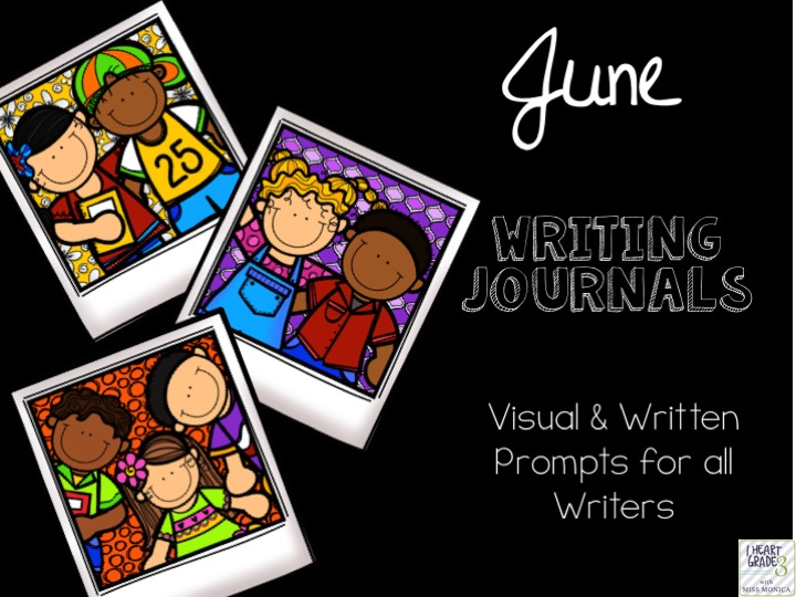June Writing Journals with Visual & Written Prompts