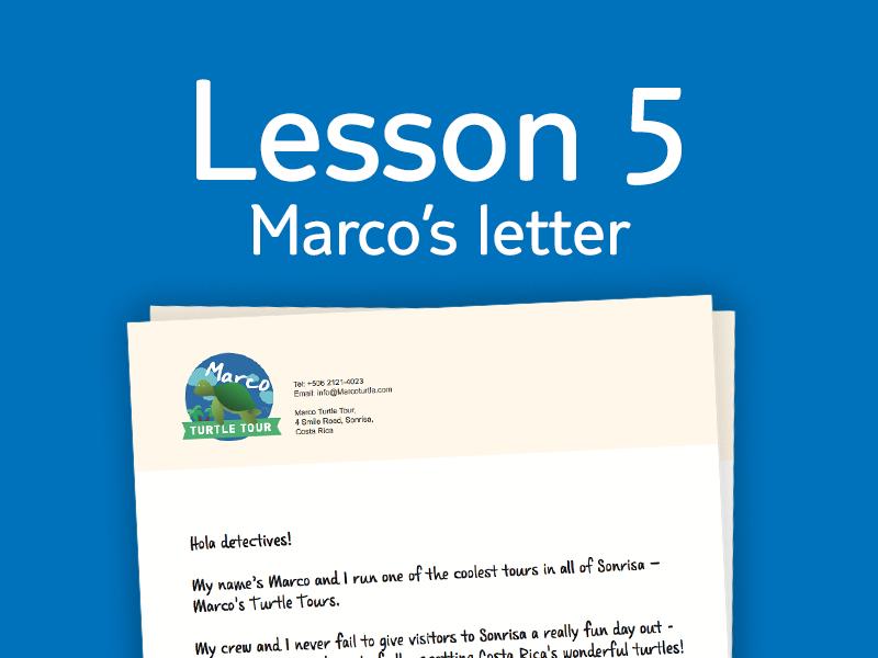 Lesson 5 - Activity 2: Marco's letter