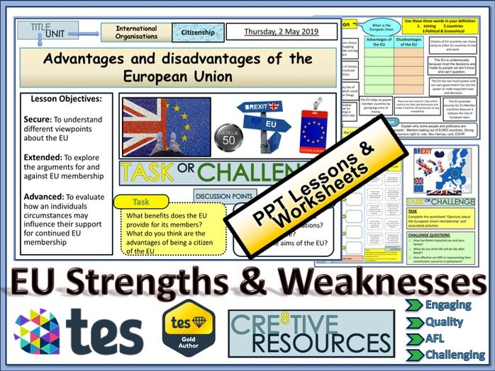 EU - Strengths and Weaknesses by thecre8tiveresources | Teaching Resources