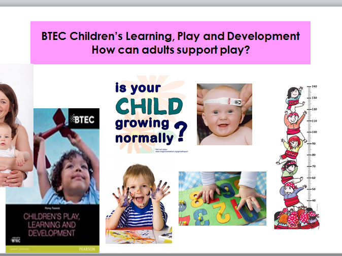 "Child Development-Level 2-: ""How Adults Support Play""-Lesson&Worksheets"