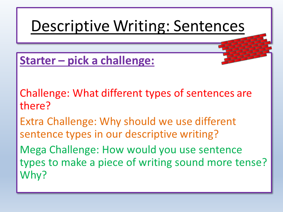 Descriptive  / Creative Writing