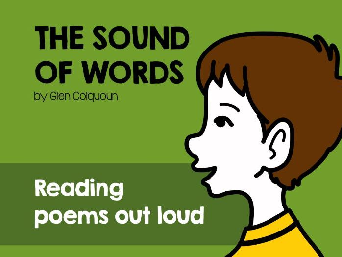 Reading poetry out loud. 'The Sound of Words' by Glen Colqhoun.