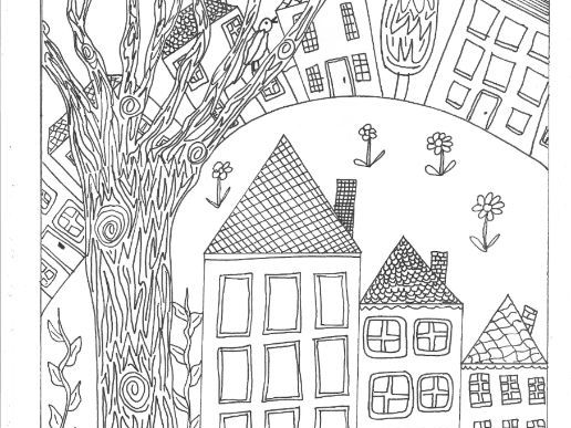 Where We Live? (Settlements and Buildings) Colouring Page