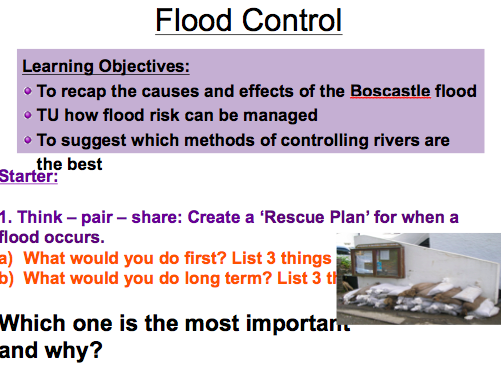 Lesson 3: Flood Control