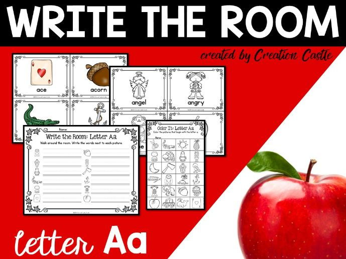 Alphabet Write the Room - Letter A