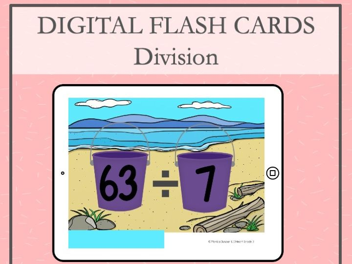 Division Flash Cards for PowerPoint