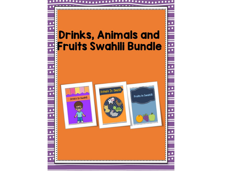 Animals,Fruits And Drinks Swahili Bundle