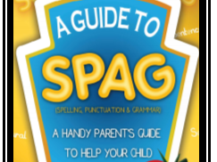 SPAG Booklet for Parents- helping parents help their children at home.