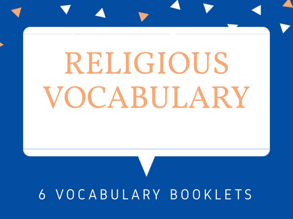 World Religion Vocabulary Booklets
