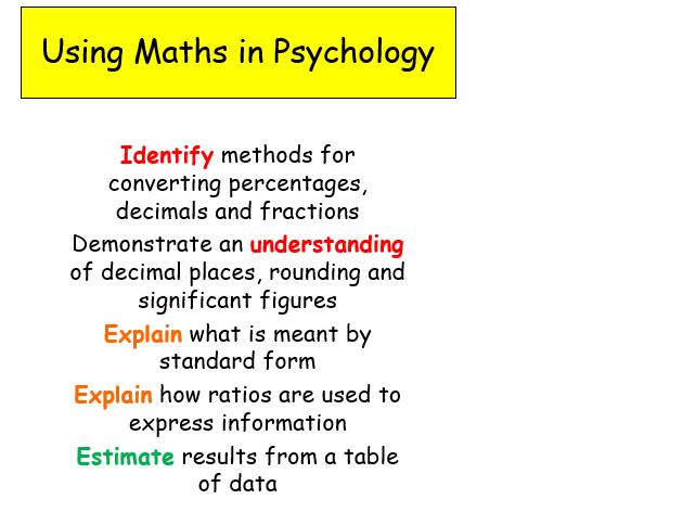 Edexcel Psychology (9-1) GCSE New Spec Unit 1 Lesson 21 - Using Maths in Psychology!