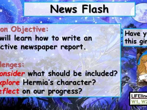A Midsummer Night's Dream - News Report - Hermia Missing