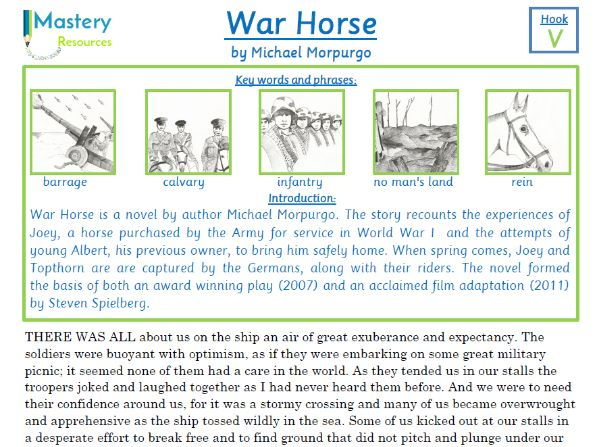 War Horse by Michael Morpurgo Comprehension KS2