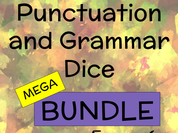 Punctuation and Grammar Dice for Year 5 and 6 Mega BUNDLE