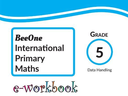 Grade 5 Data Handling, 21 Worksheets from BeeOne Books