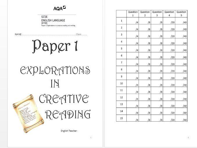 AQA Language Paper 1: Mega Revision Booklet (15 Mock Exams!)