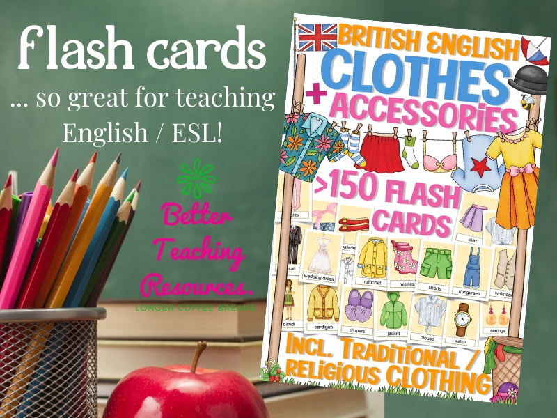 flashcards, British English / teaching ESL: clothes