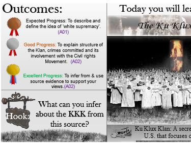 An Investigation into  The Ku Klux Klan (KKK)