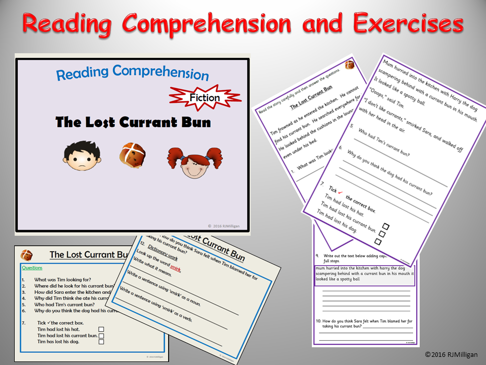 Reading Comprehension: - Story Text and Questions