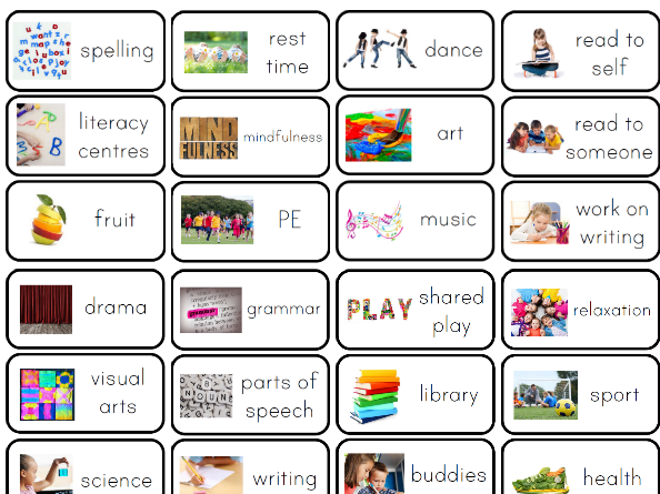 photograph about Printable Visual Schedule Pictures identified as Visible timetables for all ages Tes
