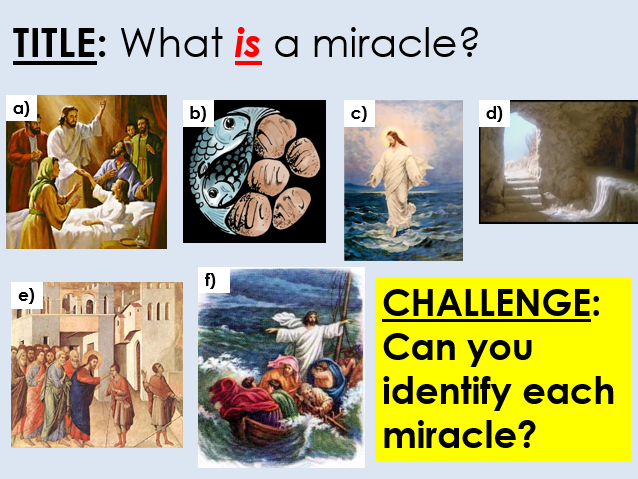 Miracles - Complete A Level lessons for new AQA Spec