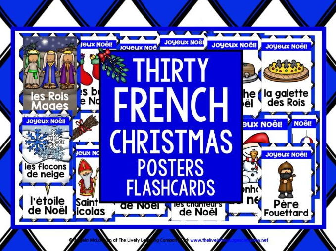 FRENCH CHRISTMAS FLASHCARDS POSTERS