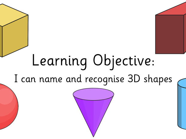 I can name and recognise 3d shapes