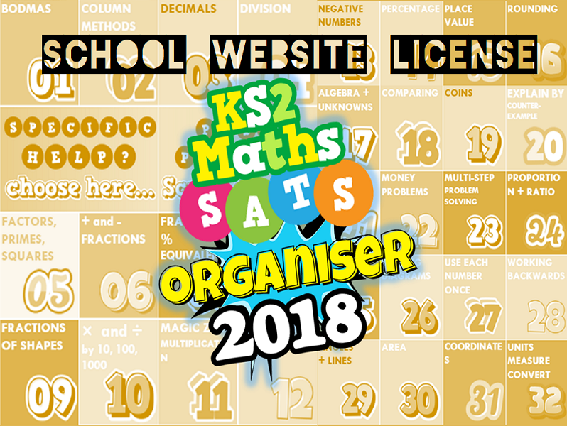 2018 School License KS2 Ultimate Maths Organiser