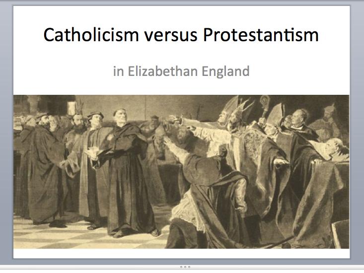 Catholicism versus Protestantism
