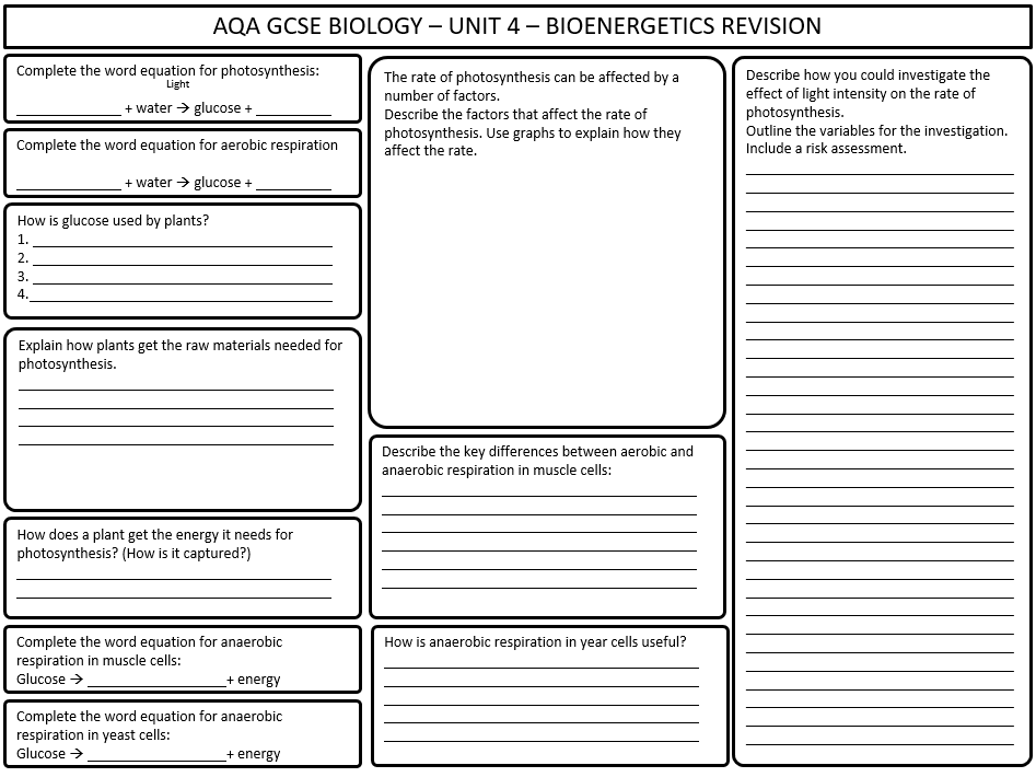 Revision Flashcards For New Aqa Gcse Biology 9 1 Cells By