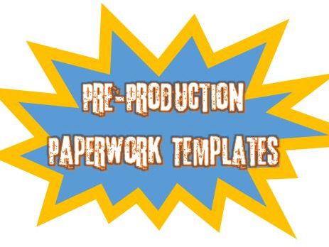 Media Pre-Production Paperwork Templates