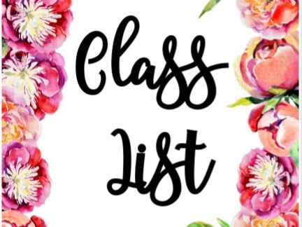 Class Folder Organisation Pages